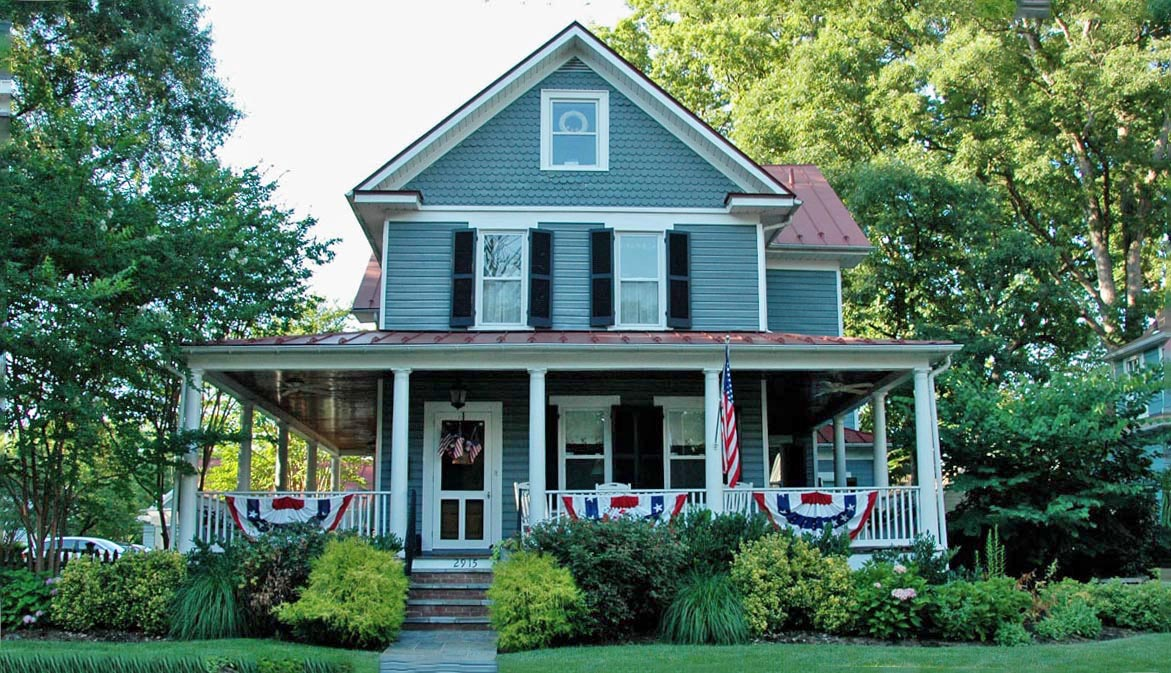 Maywood home with wrap around porch in Arlington, VA