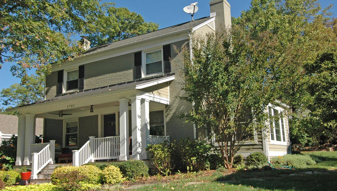 Westover Village has many homes that have been expanded but keep their original look